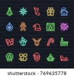 christmas and new year icon set ... | Shutterstock .eps vector #769635778