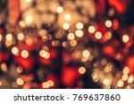 Christmas Bokeh Light Abstract...