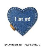 denim  heart  jeans  clothing ... | Shutterstock .eps vector #769639573