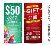 voucher template vector.... | Shutterstock .eps vector #769640410