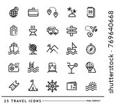 travel icons set line. line... | Shutterstock .eps vector #769640668