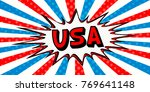 flag banner of usa in the style ... | Shutterstock .eps vector #769641148