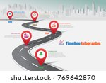 business road map timeline... | Shutterstock .eps vector #769642870