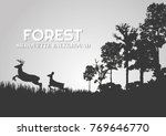 forest silhouettes vector... | Shutterstock .eps vector #769646770