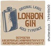 vintage label typeface named ...   Shutterstock .eps vector #769648600