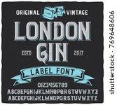 vintage label typeface named ... | Shutterstock .eps vector #769648606