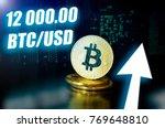 bitcoin. new probable market... | Shutterstock . vector #769648810