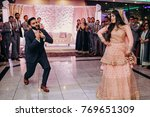 indian groom in classy western... | Shutterstock . vector #769651309
