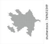 pixel map of azerbaijan. vector ... | Shutterstock .eps vector #769651549