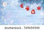 christmas vector ornaments.... | Shutterstock .eps vector #769654540