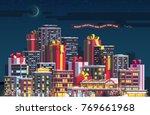 merry christmas   new year... | Shutterstock .eps vector #769661968