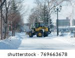 residential area with snow  ... | Shutterstock . vector #769663678