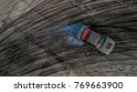 top view of a drifting car ... | Shutterstock . vector #769663900