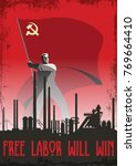 free labor will win.... | Shutterstock .eps vector #769664410