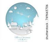 merry christmas and happy new... | Shutterstock .eps vector #769665706
