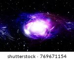 stars  dust and gas nebula in a ... | Shutterstock . vector #769671154