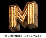 metallic orange neon font... | Shutterstock . vector #769674268