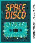 typographic vintage space disco ... | Shutterstock .eps vector #769675696