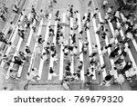 city busy pedestrian crossing   Shutterstock . vector #769679320