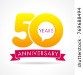 50 years anniversary...   Shutterstock .eps vector #769688494