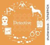 criminal and detective elements.... | Shutterstock .eps vector #769689424