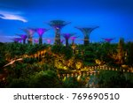 supertree grove in garden by... | Shutterstock . vector #769690510