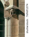 elegant bas relief on the facade | Shutterstock . vector #769691374