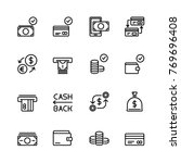 editable stroke icons. vector... | Shutterstock .eps vector #769696408
