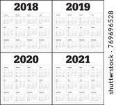 year 2018 2019 2020 2021... | Shutterstock .eps vector #769696528