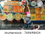 thai food on the street offers... | Shutterstock . vector #769698424