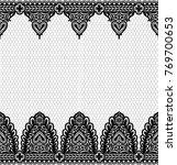 seamless lace pattern  flower... | Shutterstock .eps vector #769700653
