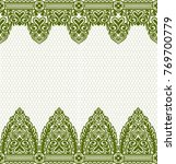 seamless lace pattern  flower... | Shutterstock .eps vector #769700779