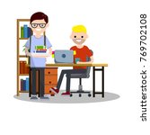 cartoon flat illustration   a... | Shutterstock .eps vector #769702108