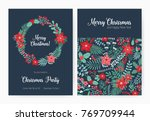 set of christmas party... | Shutterstock .eps vector #769709944