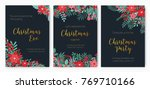 bundle of christmas eve party... | Shutterstock .eps vector #769710166