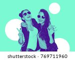 people  friendship and fashion...   Shutterstock . vector #769711960