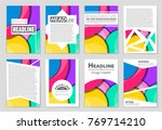 abstract vector layout...   Shutterstock .eps vector #769714210