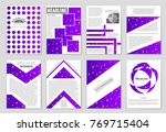abstract vector layout... | Shutterstock .eps vector #769715404