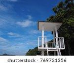tower under sky | Shutterstock . vector #769721356
