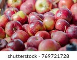 red apples in the basket ... | Shutterstock . vector #769721728