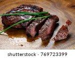 picanha  traditional brazilian... | Shutterstock . vector #769723399