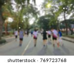 blur background of marathons in ... | Shutterstock . vector #769723768