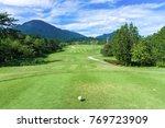 beautiful golf course  golf... | Shutterstock . vector #769723909