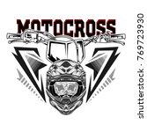 helmet motocross  skull... | Shutterstock .eps vector #769723930
