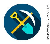 mining tools circle icon.... | Shutterstock .eps vector #769726474