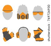 occupational safety and health... | Shutterstock .eps vector #769726930