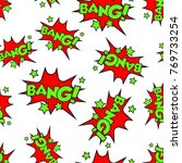 bang comic sound effects... | Shutterstock .eps vector #769733254