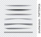 shadows. transparent realistic... | Shutterstock .eps vector #769733416