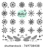 winter art hand drawn... | Shutterstock . vector #769738438