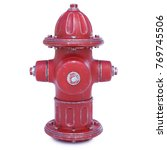 Fire Hydrant Isolated On White...